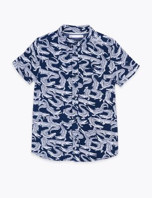 Crocodile Print Shirt (6-16 Yrs)