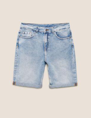 Denim Plain Shorts (6-16 Yrs)