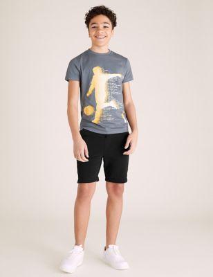 Cotton Jersey Shorts (6-14 Yrs)