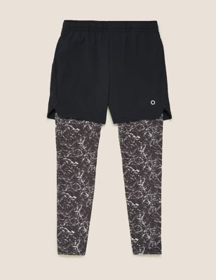 Active Shorts With Leggings (6-14 Yrs)