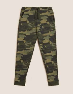 Cotton Camouflage Joggers (6-16 Yrs)