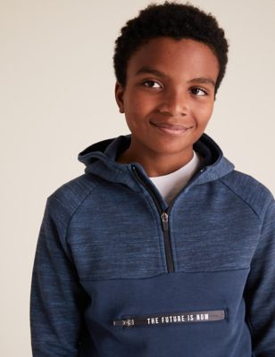 Cotton The Future Is Now Slogan Hoodie (6-14 Yrs)