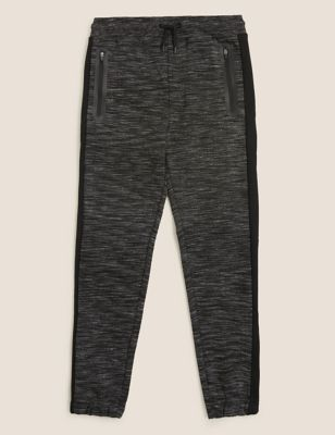 Cotton Textured Joggers (6-16 Yrs)