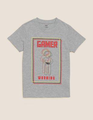 Cotton Gamer T-Shirt (6-16 Yrs)