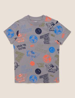 Pure Cotton Gaming Print T-Shirt (6-16 Yrs)