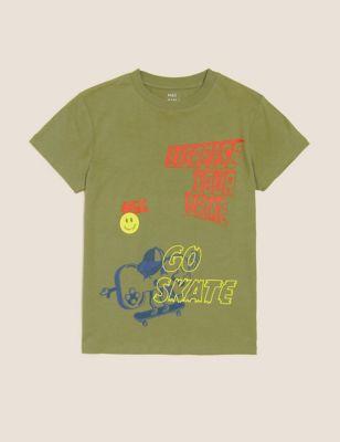 Pure Cotton Skate T-Shirt (6-16 Yrs)