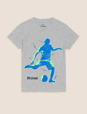 Cotton Football T-Shirt (6-16 Yrs)