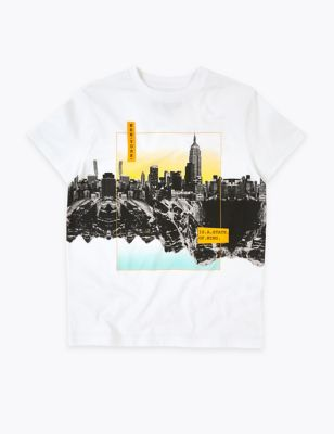 Pure Cotton New York T-Shirt (6-16 Yrs)