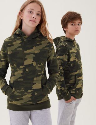 Cotton Camouflage Hoodie (6-16 Yrs)