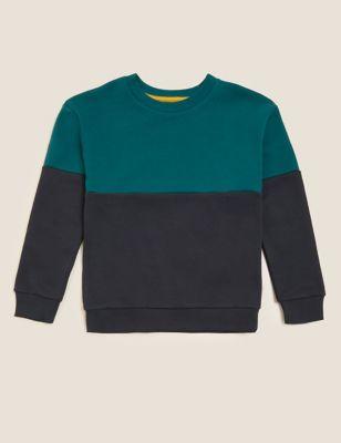 Cotton Colourblock Sweatshirt (6-16 Yrs)