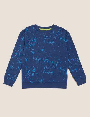 Cotton Paint Splat Sweatshirt (6-16 Yrs)