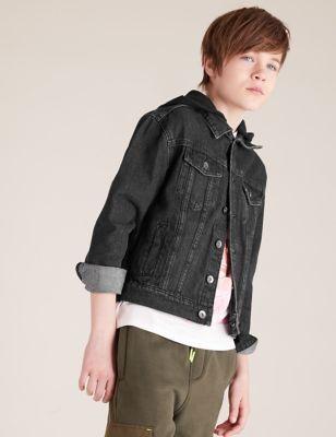 Denim Hooded Jacket (6-14 Yrs)