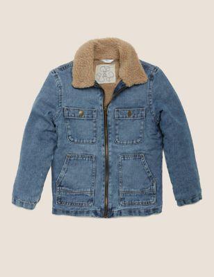 Denim Borg Lined Jacket (6-16 Yrs)