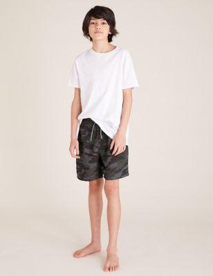 Camouflage Print Swim Shorts (6-14 Yrs)