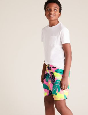 Leaf Print Swim Shorts (6-14 Yrs)