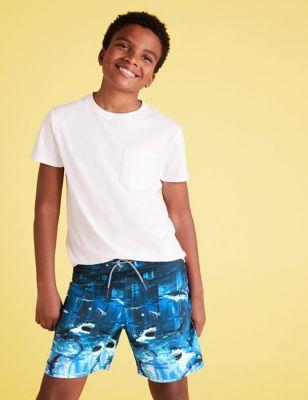 Shark Photographic Swim Shorts (6-14 Yrs)