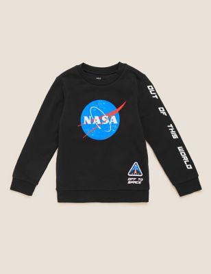 NASA™ Iconic Cotton Sweatshirt (6-16 Yrs)