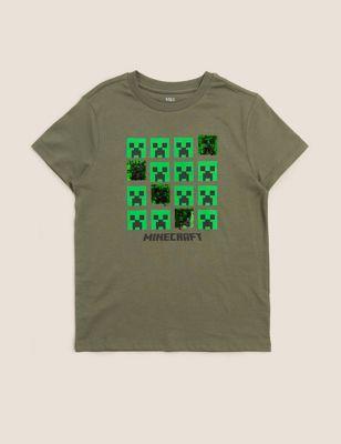 Pure Cotton Minecraft™ Sequin T-Shirt (6-16 Yrs)
