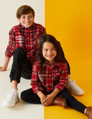 Pure Cotton Harry Potter™ Checked Shirt (2-16 Yrs)