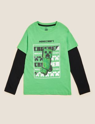 Pure Cotton Minecraft™ Sequin Top (6-16 Yrs)