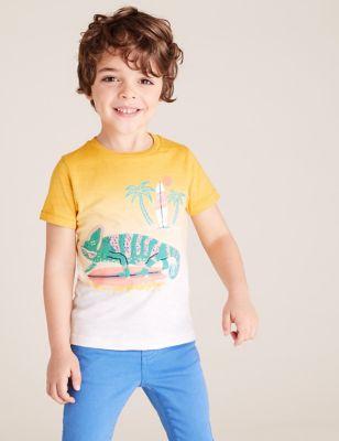 3pk Cotton Patterned T-Shirts (2-7 Yrs)