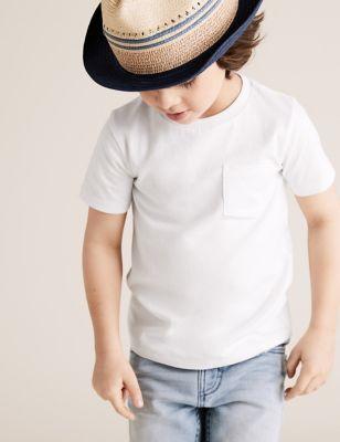 5pk Cotton Plain T-Shirts (2-7 Yrs)
