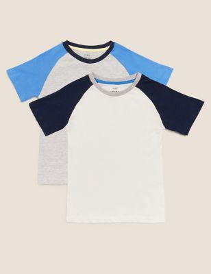 2pk Raglan T-Shirts (2-7 Yrs)