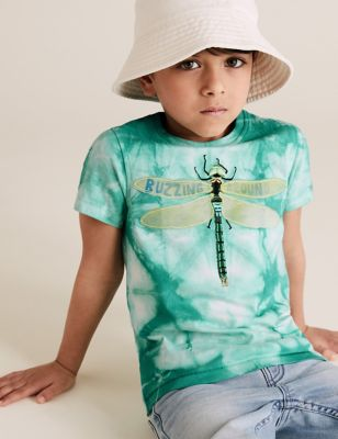 Pure Cotton Tie Dye Dragonfly T-Shirt (2-7 Yrs)