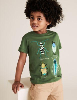 Pure Cotton Reversible Bug Sequin T-Shirt (2-7 Yrs)