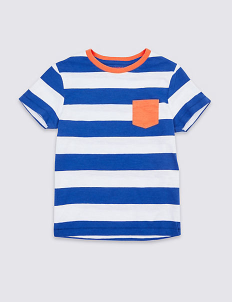 Pure Cotton Striped T-Shirt (3 Months - 7 Years)
