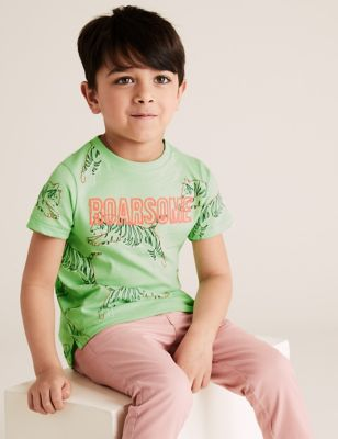 Pure Cotton Tiger Print T-Shirt (2-7 Yrs)