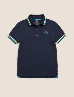 Pure Cotton Dinosaur Polo Shirt (2-7 Yrs)