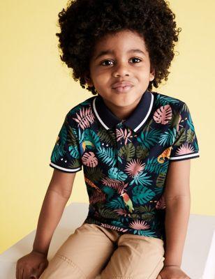 Pure Cotton Tropical Polo Shirt (2-7 Yrs)