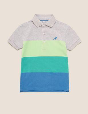Pure Cotton Colour Block Polo Shirt (2-7 Yrs)