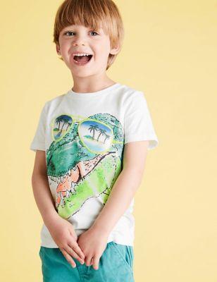 Pure Cotton Dinosaur T-Shirt (2-7 Yrs)