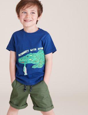 Pure Cotton Crocodile T-Shirt (2-7 Yrs)