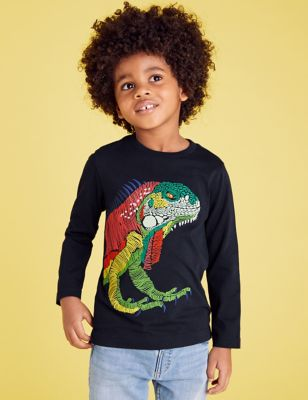 Pure Cotton Embroidered Iguana Top (2-7 Yrs)