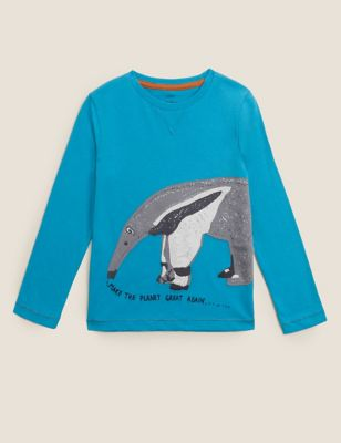 Pure Cotton Anteater Top (2-7 Yrs)