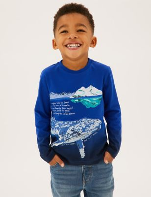 Pure Cotton Whale Top (2-7 Yrs)