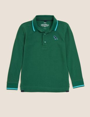 Pure Cotton Dinosaur Embroidery Polo Shirt (2-7 Yrs)