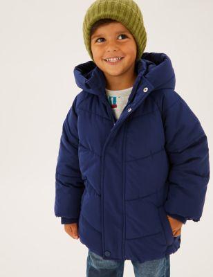 Stormwear™ Fleece Lined Hooded Padded Coat (2-7 Yrs)