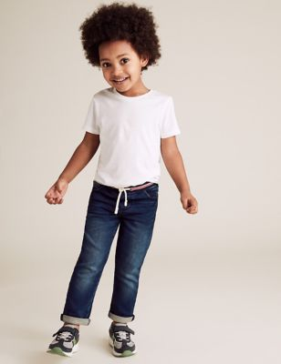 Regular Cotton Comfort Waist Rainbow Jeans (2-7 Yrs)