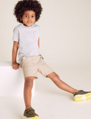 Pure Cotton Cargo Shorts (2-7 Yrs)