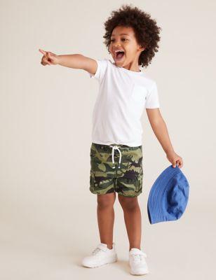 Pure Cotton Dinosaur Camouflage Shorts (2-7 Yrs)