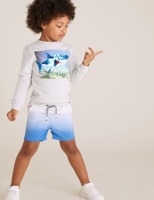 Pure Cotton Dip Dye Rugby Shorts (2-7 Yrs)