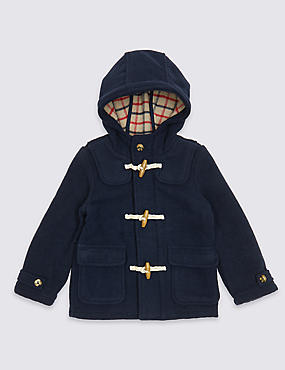 Paddington™ Duffle Coat with Wool (3 Months - 6 Years), BLUE, catlanding