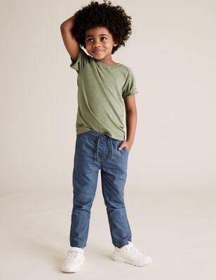 2pk Pure Cotton Ripstop Trousers (2-7 Yrs)