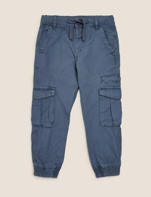Pure Cotton Cargo Trousers (2-7 Yrs)
