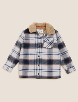 Pure Cotton Checked Shacket (2-7 Yrs)
