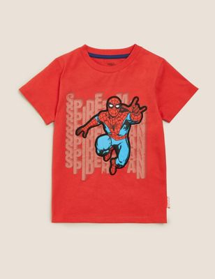 Pure Cotton Spider-Man™ T-Shirt (2-7 Yrs)